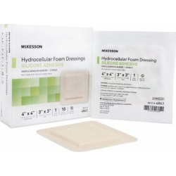 Silicone Foam Dressing 4 x 4 inch  10 Count by McKesson found on Bargain Bro India from Herbspro for $50.45