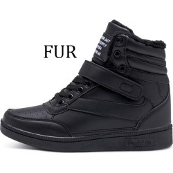 53f77be7c87 Costbuys Women Fashion Sneakers High Top Hook Loop Lace Up Platform Casual  Shoes Hidden Wedge Heel