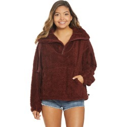 Free People Women's Movement Big Sky High Neck Pullover - Dark Red Medium Spandex Shirt