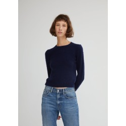 Acne Studios Wool Cashmere Pilled Sweater Navy Size: Large found on MODAPINS from la garconne for USD $390.00