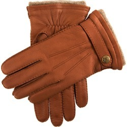 Dents Men's Handsewn Cashmere Lined Deerskin Leather Gloves With Cashmere Cuffs In Havana Size 8.5 found on Bargain Bro UK from Dents
