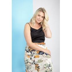 Curve Floral Belted Maxi Skirt found on Bargain Bro UK from Izabel London UK