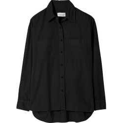 Nili Lotan Women's Kelsey Cotton Poplin Shirt in Black size Medium found on MODAPINS from kirna zabete for USD $350.00