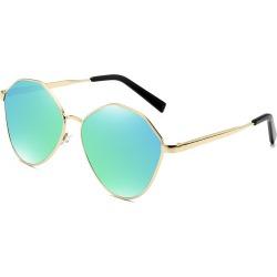 Costbuys  Retro Oval Sunglasses Men Metal Sun glasses Ladies Mirror Glasses Vintage Transparent oculos de sol masculino - Green