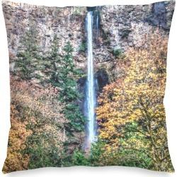 Square Pillow Cover - Water Fall in Yellow by VIDA Original Artist found on Bargain Bro Philippines from SHOPVIDA for $30.00