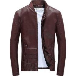 Costbuys  Autumn And Winter Fashion Men's Plus Slim Fit Leather Coats Men Leather Jacket Short Paragraph - 3 / XXXL