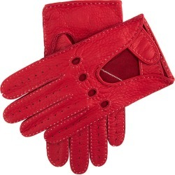 Dents Men's Deerskin Leather Driving Gloves In Berry Size L found on Bargain Bro UK from Dents