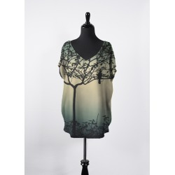 Women's V-Neck Top - Essential Top | Bird by VIDA Original Artist found on Bargain Bro India from SHOPVIDA for $85.00