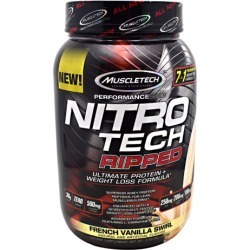 Nitro Tech Ripped Vanilla 2 lbs by Muscletech