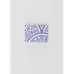 Leather Slimfold Wallet - Mandala Blues in Blue/Purple/White by Haris Kavalla Original Artist found on Bargain Bro India from SHOPVIDA for $65.00