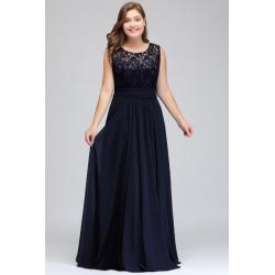 46e0d48e53fb Costbuys Long Bridesmaid Dresses Floor Length Lace Plus Size Bridesmaid  Dress - Sleeveless navy blue /