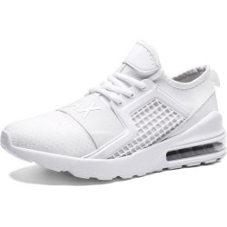 Costbuys  Running shoes training for men sneakers sports shoes Outdoor fitness jogging Increased bottom - 7059-White / 7.5