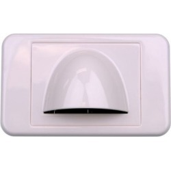 Bullnose Low Profile Wall Plate - White found on Bargain Bro India from Simply Wholesale for $42.85