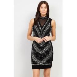 Embellished Bodycon Black Tie Dress found on Bargain Bro UK from Izabel London UK