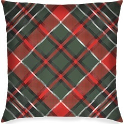 Square Pillow - Tartan in Brown/Green/Plaid by Haris Kavalla Original Artist found on Bargain Bro India from SHOPVIDA for $45.00