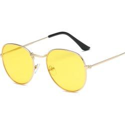 Costbuys  Sunglasses Women Round Summer Classic Sunglases Metal Frame Trends Fashion Glasses women's sunglass 90s glass - C01