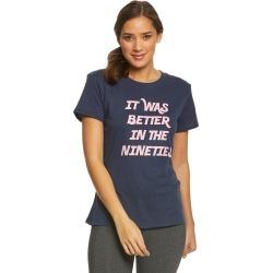 Sub Urban Riot Women's Better In The 90's Loose T-shirt - Navy Navy Blue Medium Cotton/Polyester/Viscose