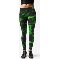 Leggings - Darkly in Green by VIDA Original Artist