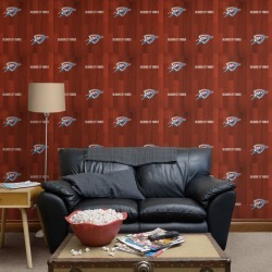 Oklahoma Thunder for Oklahoma City Thunder: Hardwood Pattern - Officially Licensed Removable Wallpaper 24� x 48� (8.0 sf) by