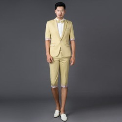 Costbuys  photography suits men cultivating leisure suit short sleeve Color suits Theatrical Costume pants Small suit - photo co