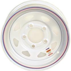 15 Inch White Spoke Trailer Wheel - 5 lug