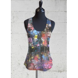 Printed Racerback Top - Left Behind Tank by VIDA Original Artist found on Bargain Bro Philippines from SHOPVIDA for $45.00