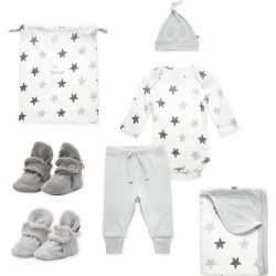 Booties More 6 Piece Baby Gift Set Gray