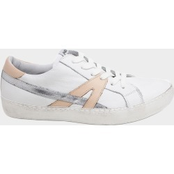 Leather Low-Top Trainers White/Dusty Pink - White/Dusty Pink / 37 found on Bargain Bro UK from ASPIGA