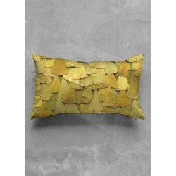 Oblong Pillow - Thailand Textured in Brown/Yellow by Laura Shafer Original Artist