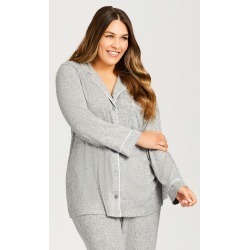 AVENUE Hacci Button Top Sleepwear in Gray Size 22-24 found on Bargain Bro India from CoEdition for $19.50