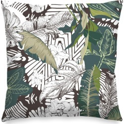 Square Pillow - Dark Abstract Jungle by Always Seek Original Artist