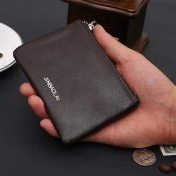 Costbuys  Women Small Genuine Leather Coin Purse Zip Wallet Lady Coin Case Bag Key Holder Wallets Clutch Purse carteira feminina