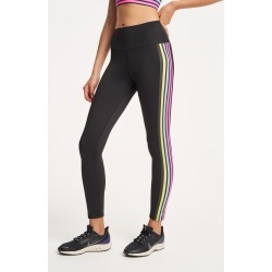 Beach Riot Jade Leggings in Neon Stripe Bandier found on MODAPINS from bandier for USD $84.00