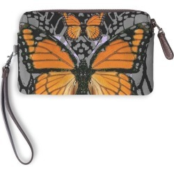 Leather Statement Clutch - Monarch Butterflies Art by VIDA Original Artist found on Bargain Bro Philippines from SHOPVIDA for $75.00