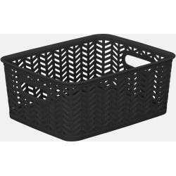 Herringbone Storage Bin - Black | Storage