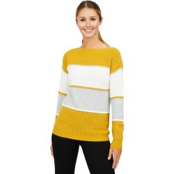 Colour Block Knit Sweater, Beeswax / Small