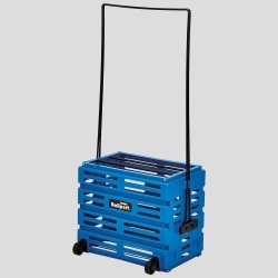 Tourna Ballport Deluxe with Wheels 80 Balls Ball Hoppers Blue
