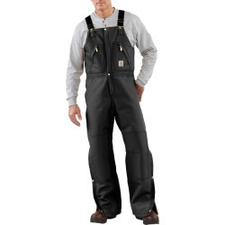 Carhartt Cotton Duck Bib Overalls with Quilt Lining, 46
