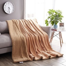 Costbuys  Solid Color Super Soft Flannel Fleece Cashmere Plush Double Sided Blanket For Sofa/Bed/Travel Soft Throw Blanket Livin