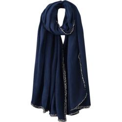 Costbuys  Winter Warm Men Women Woolen Long Large Scarf Wrap Scarves Women Wrap Lady Shawl  Soft Thin Chiffon - B