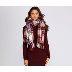 Tis' The Season Plaid Scarf