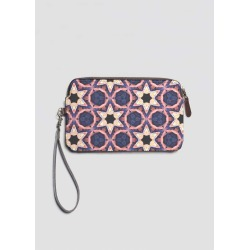 Leather Statement Clutch - Star Dome in Blue/Brown/Purple by VIDA Original Artist found on Bargain Bro India from SHOPVIDA for $95.00