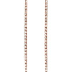 Diamond Bar Earrings With White Diamonds - Rose - 18K - Pair found on Bargain Bro India from AUrate New York for $1640.00