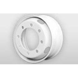 17.5 Inch 8 lug White Solid Steel Dual Trailer Wheel 8x275mm
