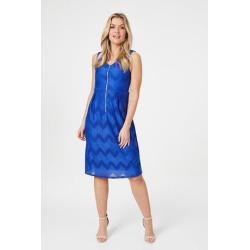 Chevron Print Zip Front Dress found on Bargain Bro UK from Izabel London UK