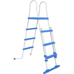 Above Ground Pool Safety Ladder With 3 Steps 122 Cm