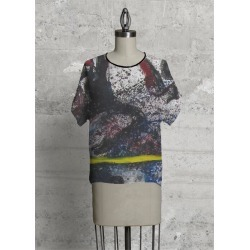 Modern Tee - The Path I Have Taken in Blue/Brown by VIDA Original Artist found on Bargain Bro Philippines from SHOPVIDA for $80.00