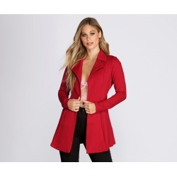Amore Long Belted Trench Coat