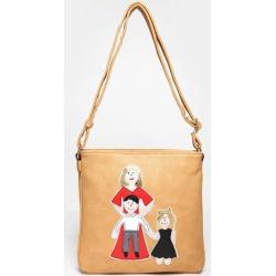 Happy Family Khaki Cross Body Bag