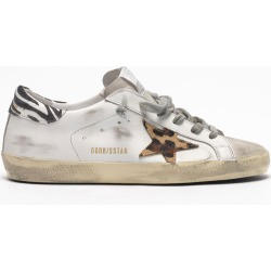 Golden Goose Sneakers Superstar White Leather-Pony Leo Star-Zigger Detail - EU35 White found on Bargain Bro UK from Oxygen Boutique